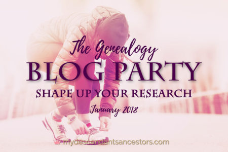 Genealogy Blog Party Jan 2018
