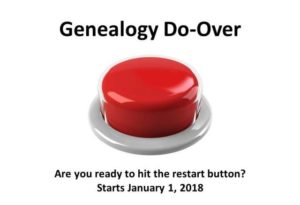 Genealogy Do-Over