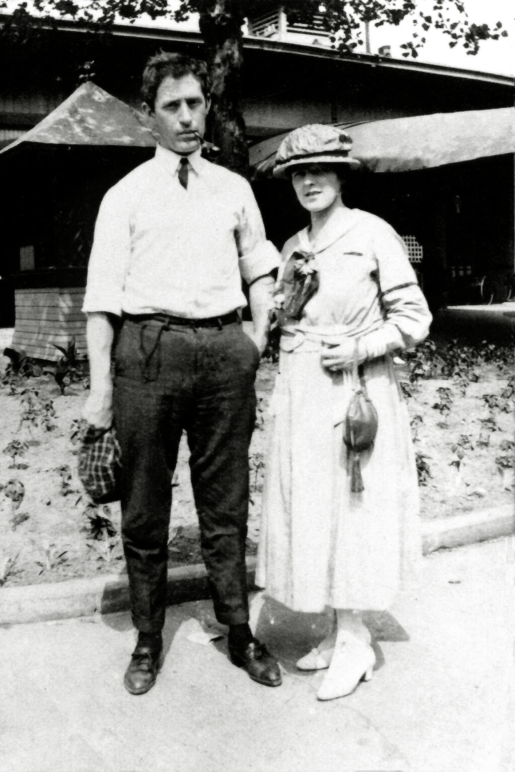 James Landon Bier and wife little Edna Elizabeth Chapline.