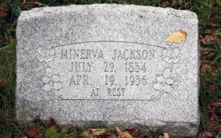 Minerva Moore Jackson Headstone.