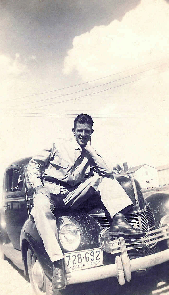 Ollie Sapp. Posing for his wife. World War II.