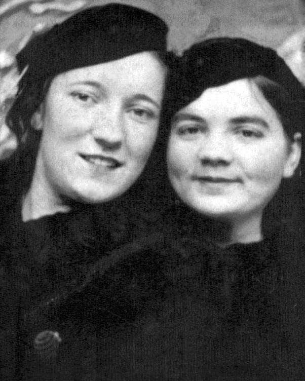 Maxine Shuman with her sister, my Aunt Geraldine.