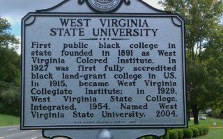 Academic West Virginia State University Sign