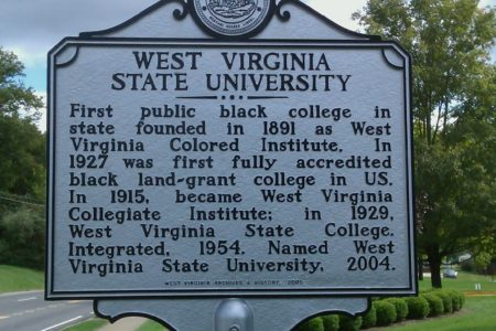 Academic West Virginia State University Sign